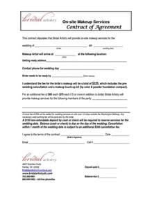Side Artist Agreement Template makeup artist contract template free makeup vidalondon