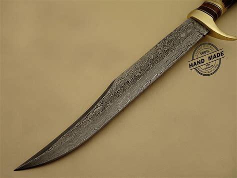 Best Handmade Knives - best damascus bowie knife custom handmade damascus steel