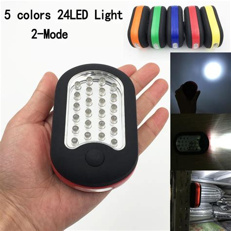 Rotating Hanging Flashlights Blue portable 24leds mini led flashlight work light l with