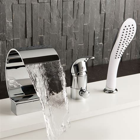 bathtub fittings bathtub faucet 3 hole fine design hand shower waterfall