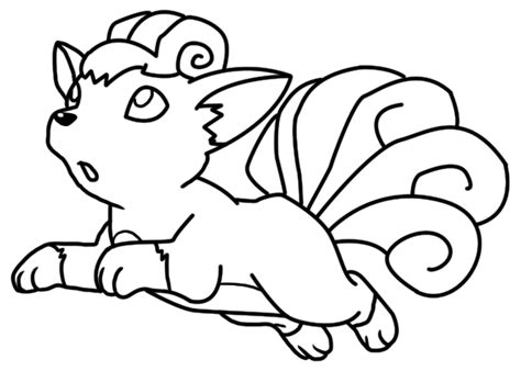 pokemon coloring pages vulpix bellatrixie white deviantart
