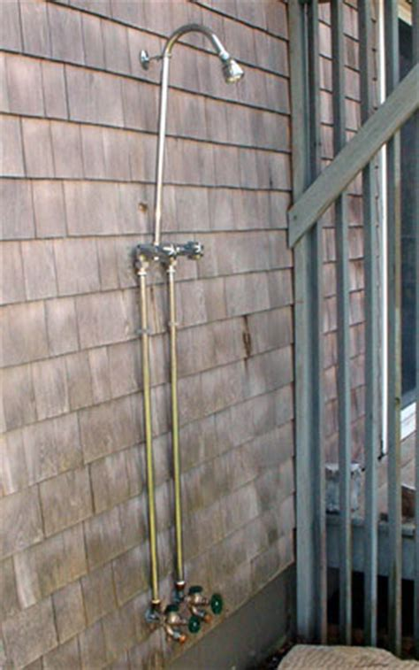 plumbing for outdoor shower shower