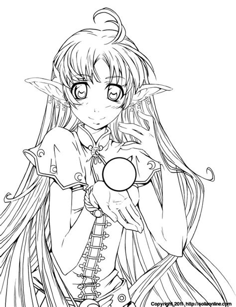 cute anime characters coloring pages