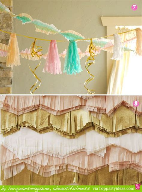 How To Make Crepe Paper Decorations - different ways to decorate with streamers ideas