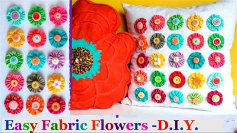 fabric crafts quick how to make fabric flower handmade easy fabric