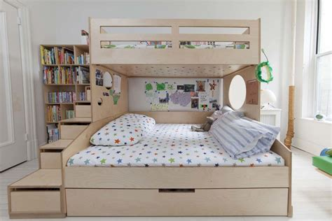 bedroom bunk beds with full on bottom and trundle twin over full omar casa kids