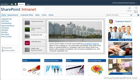 Sharepoint 2010 Intranet Sle Design Aryan Nava Sharepoint Home Page Templates