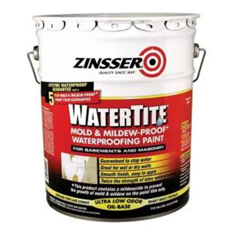 mold and mildew resistant bathroom paint zinsser 5 gal watertite mold and mildew proof white