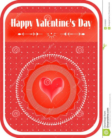 valentines text valentines card with text stock vector image 51003620