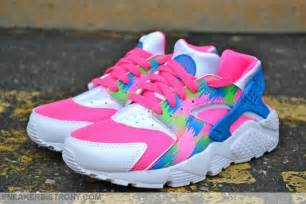 nike huarache colors pink blast photo blue electric green white sole collector