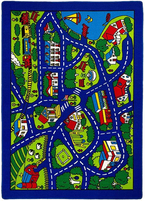 road map small area rug rg5113 furniture of america