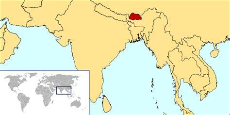 where is bhutan on a world map nate s nonsense philatelic history of bhutan