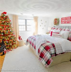 Inexpensive Christmas Tree Ornaments - our plaid christmas bedroom 2016 four generations one roof