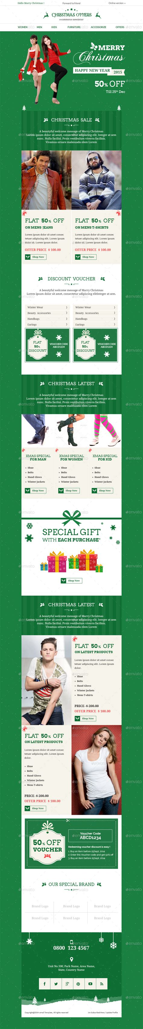 Christmas Bundle E Commerce Newsletter By Kalanidhithemes Graphicriver Special Offer Email Template