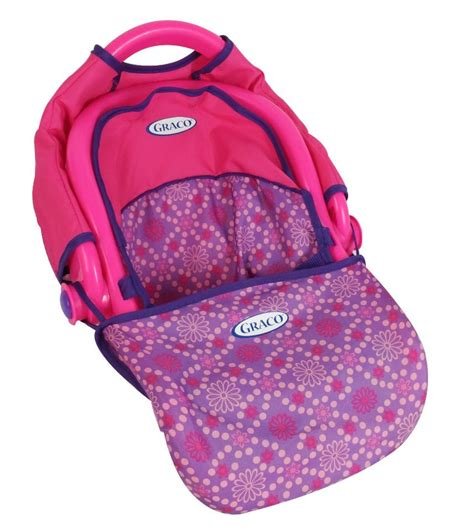 graco baby doll car seat graco 3 in 1 doll travel seat pink and purple color