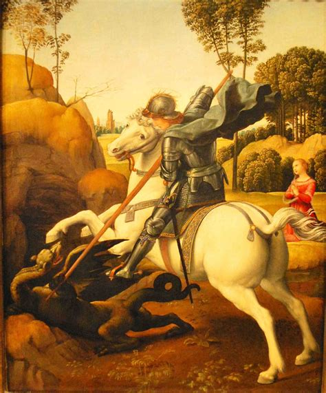 Tshirt Scorpion King White C C arts food closely looking at raphael s quot st george and