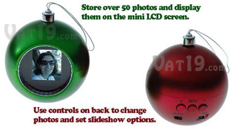 digital photo ornament display 50 photos on the ornament