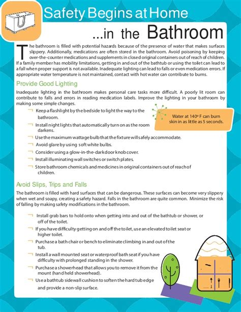 bathroom safety tips bathroom safety guide for the elderly