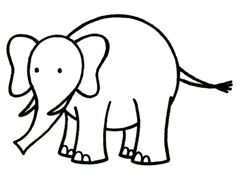 drawing of elephant drawings images cliparts co