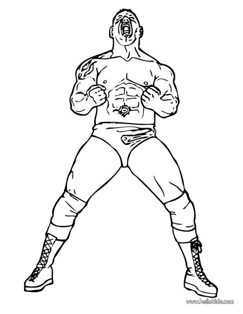wwe undertaker wrestling coloring page sketch coloring page