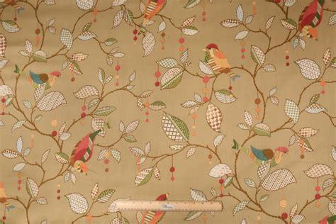 cotton drapery fabric kaufmann tweet tweet printed cotton drapery fabric in tea