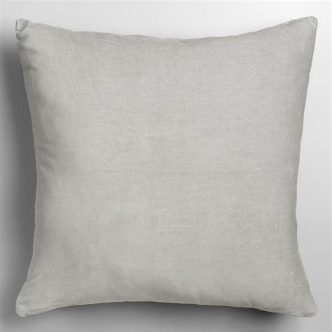 Velvet Throw Pillows Mirage Gray Velvet Throw Pillow World Market