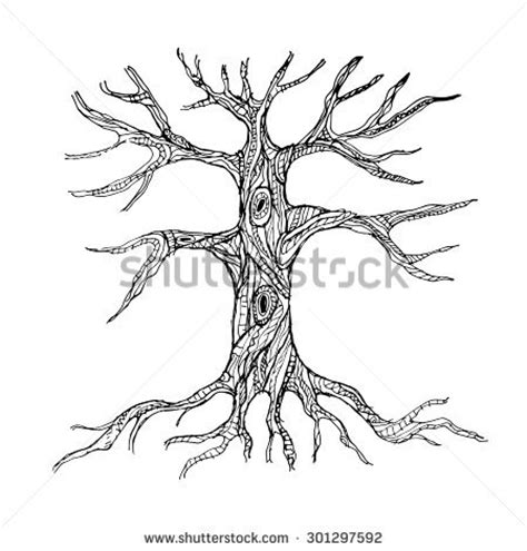 coloring page of tree with roots tree roots trunk colouring pages