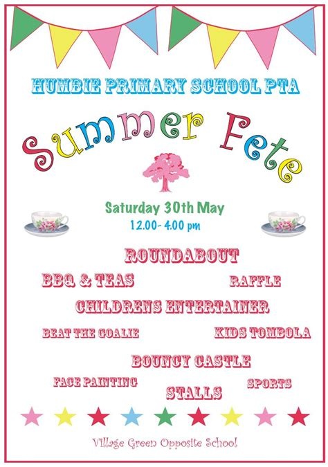 summer fair flyer template 1000 images about summer fete on parents association schools and flyers