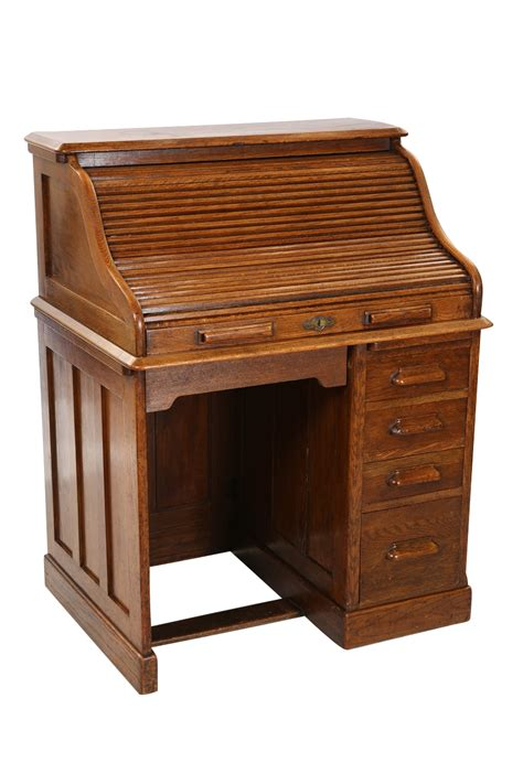 Roll Top Desk Small A Small Harris Lebus Oak Roll Top Desk The Interior With Drawers And Pigeon Holes A Pedest