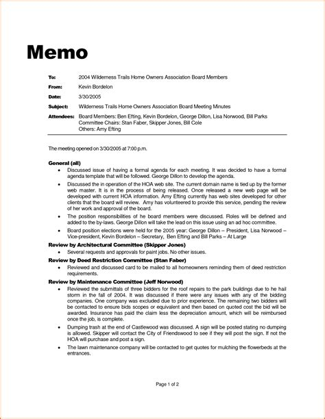Memo Formatting Guidelines 7 Professional Memo Format Authorizationletters Org