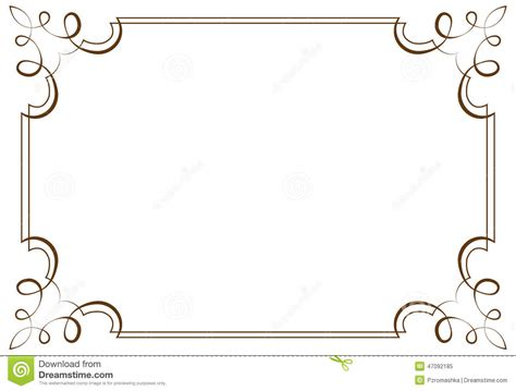 graphic design frame vector vector horizontal frame element for design stock vector