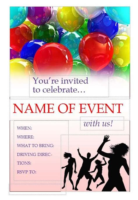 Invitation Flyer Template Free