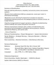 Resume Exles For Experienced It Professionals Resume Format For Experienced Professionals Best Resume Gallery