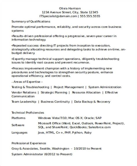 experienced resume templates resume format for experienced professionals best resume