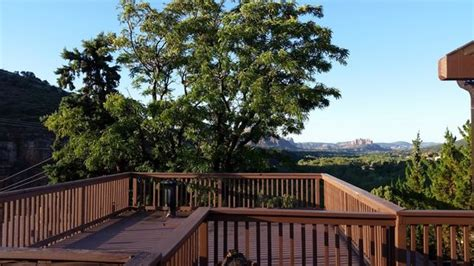 sedona views bed and breakfast view from morning glory suite bed and deck picture of
