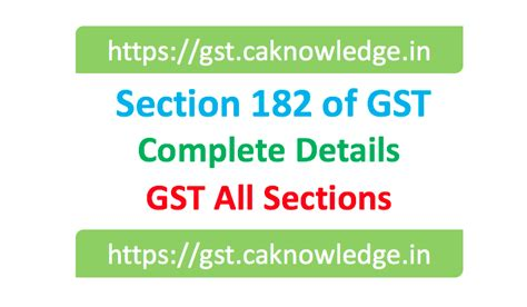sections of the law section 182 of gst claim of cenvat credit to be disposed