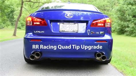 lexus isf sound rr racing exhaust systems for lexus is f
