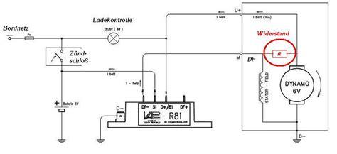 Motorrad Schaltung Klemmt by Elektronischer Laderegler R81 6 V Als Ersatz F 252 R Mechn