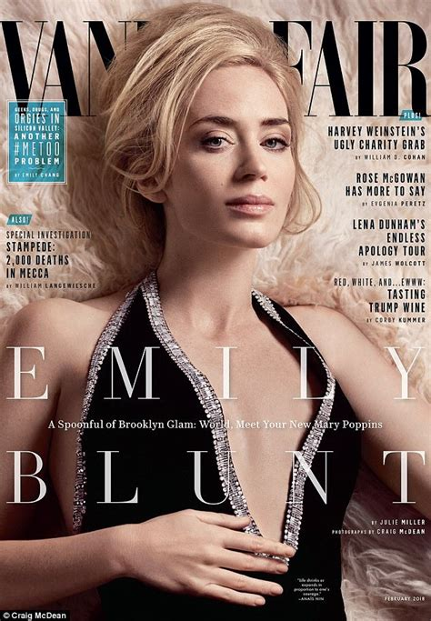 hollywood actress name starting with s emily blunt talks about pay gap as she covers vanity fair