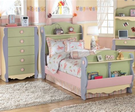 ashley girls bedroom set doll house sleigh bed twin size by ashley furniture b140