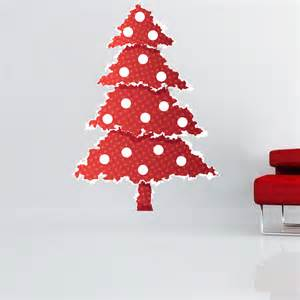 red christmas tree wall decal christmas murals primedecals