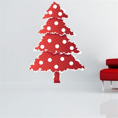 Christmas Tree Wall Mural red christmas tree wall decal christmas murals primedecals