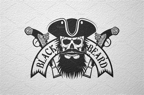 black beard pirate logo logo templates creative market