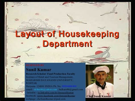 layout of housekeeping presentation layout of housekeeping dept with explanation
