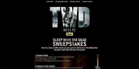 Twd Sweepstakes - amc s the walking dead sweepstakes 2015 amc com sleepwiththedead