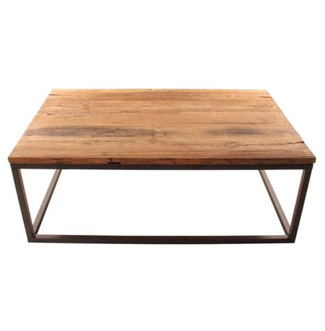 solid chunky reclaimed elm wood large coffee table ebay