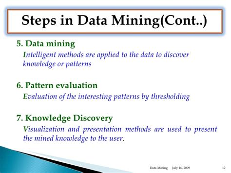 pattern definition in data mining data mining overview