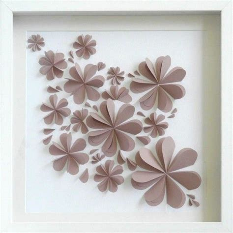 Paper Craft Wall Decorations - paper flower wall decor pretty diy paper