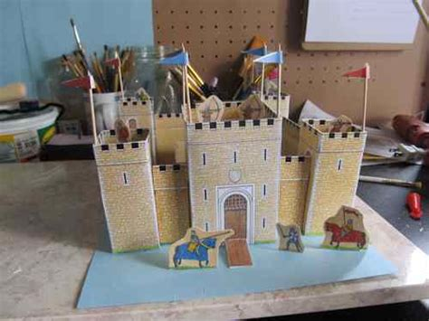 How To Make A Paper Castle - the easy to make paper castle
