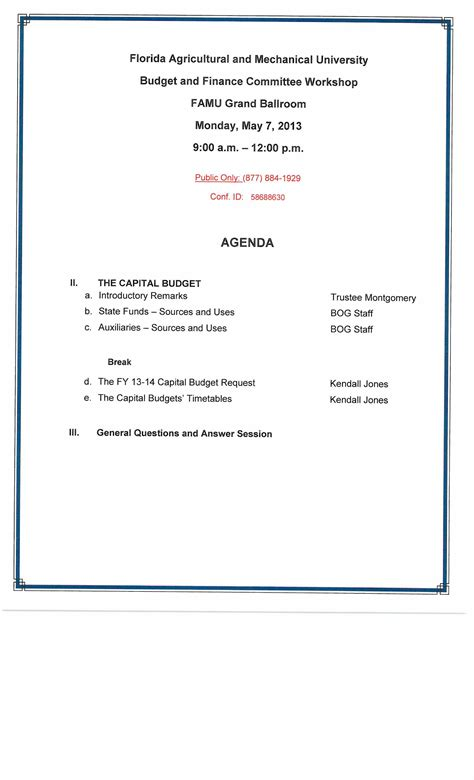conference call meeting agenda template conference agenda template images